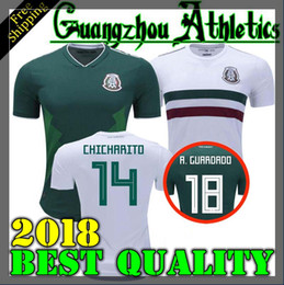 Wholesale Football Mexico - 2018 world cup Mexico CHICHARITO Soccer Jersey G.DOS SANTOS R.MARQUEZ Home Green Away Hernandez 18 19 Mexico Football Shirt