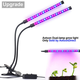 Wholesale tube led light for plants - 94Inch 18W Dual Heads Led Grow Light With Clip Flexible Gooseneck Plant Flower Vegetable Growing Lamp For Greenhouse Hydroponic