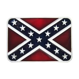 Utilizzare film online-Cintura uomo fibbia New Vintage Classic ribelle confederata bandiera rettangolo fibbia della cintura Gurtelschnalle Boucle anche in USA FIBBIA-T152