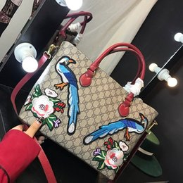 Wholesale Casual Bow Tie Styles - 2018 Luxury designer New guccx printing PU handbags girl shoulder bags teenager handbag Waterproof purse wallet lady Navy bag 180128002
