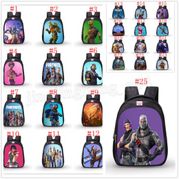 Wholesale school bags unisex - Fortnite cartoon student School Bag Oxford cloth Backpacks Game Fortnite Print Shoulders bag 25 Colors MMA201