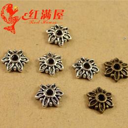 A3722 7 * 7 MM collier petite fleur en métal capuchon, chapeau vintage bijoux accessoires DIY vintage bronze antique tibétain casquettes ? partir de fabricateur