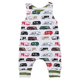 Summer Baby Boy Girl Toddler Cartoon Bus Jumpsuit Sleeveless Cotton Romper Newborn Baby Outfit Bodysuit Kid Clothing set Coupon