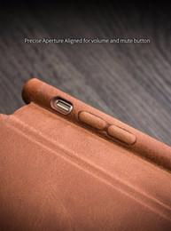 Кожаный чехол онлайн-Сверхтонкий чехол для iPhone 7 plus Роскошная кожаная откидная крышка со скрытой магнитной защелкой