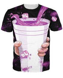 2019 sprite sujo Novo Verão Das Mulheres Dos Homens Roxo Bebeu T-Shirt Sexy Tee Vibrant T Camisa Hip-hop Direto Sprite Tees 3d Femme Homem Camiseta desconto sprite sujo
