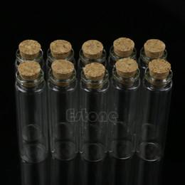 Argentina S-home 10pcs 20ml 22 * 80mm Nuevo mini frasco de vidrio botella con tapón de corcho colgante de almacenamiento cheap mini bottle vial pendant Suministro