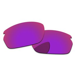 Lentes de substituição de óculos de sol on-line-O espelho vermelho roxo polarizou lentes de substituição para a proteção do quadro 100% UVA UVB dos óculos de sol do deslocamento de carbono