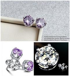 Wholesale 14k White Gold Emerald Earrings - 2014 Silver earing , Zircon ear ring , Diamond women earring Customs Data fashiona new manufactured in China beautiful desgins
