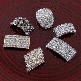 Wholesale Flatback Pearls Mixed - 120pcs Vintage Handmade Metal Decorative Headbands Crystal Pearls Craft Supplies Flatback Rhinestone Buttons For Rhinestone
