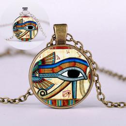 Canada Femmes Rétro Égyptien L'oeil d'Horus Chandail Pendentif Collier Ronde En Verre Alliage Bijoux Cadeau CX17 cheap egyptian jewelry Offre