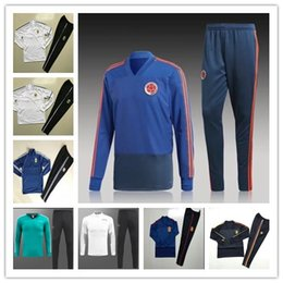 Wholesale New Belgium - New 2018 Colombia Belgium soccer training suit tracksuit OZIL KROOS 18 19 E.HAZARD R.LUKAKU Spain Argentina football tracksuit chandal