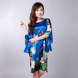 c14a75ab8d Summer Sexy Female Bathrobe Dress Gown Vintage Printed Robe Nightgown Loose  Casual Sleepwear Mujer Pajamas Plus Size 6XL WR075