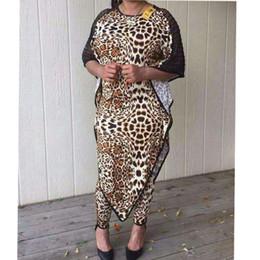 2017 Dashiki Africain Nouveau Costume De Mode (Robe et Pantalon) Chauve-Souris Léopard Grain Sexy Costume Super Élastique Africain Pour Dame ? partir de fabricateur