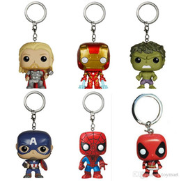 Wholesale Action Figure Heroes - Super Hero Funko Pop Figure Deadpool Thor Iron Man Superman Captain America Hulk Action Figures Superhero Collection Doll kids Toys