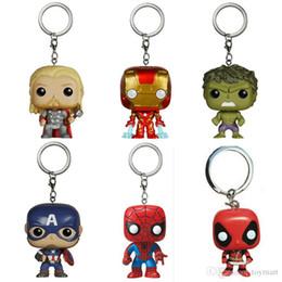 Wholesale Men Superheroes - Super Hero Funko Pop Figure Deadpool Thor Iron Man Superman Captain America Hulk Action Figures Superhero Collection Doll kids Toys