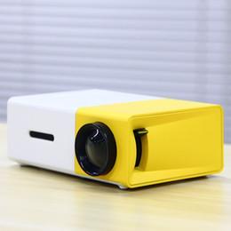 Fondos de video online-ET YG300 Photo Studio Backgrounds Proyector Cámara portátil Foto Video Home Cinema Reproductor multimedia con HDMI / USB Blanco Amarillo