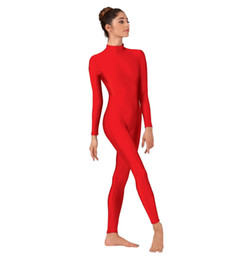 Enfant adulte rouge Lycra Spandex Zentai costume de danse vêtements Unitard Body No Hood mains pieds ? partir de fabricateur