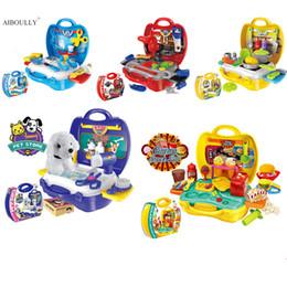Wholesale Mini House Kits - Wholesale- Mini Kitchen Toys Plastic Simulation Home Appliances Kids Play House Toy Baby Girls Pretend Play Medical Kit - Pretend Toy