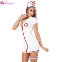 Пояса для кормящих мам онлайн-2018 DangYan плюс размер сексуальный Тедди медсестра костюм с поясом ноги см косплей сексуальные костюмы эротическое платье для взрослых сексуальное женское белье