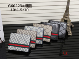 Wholesale heart shape stones - 2018 High quality leather wallets Women's men pocket wallet Fashion designer purses Metal zipper European-style purse
