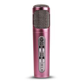 Wholesale desktop conference microphone - Portable Beautiful Karaoke Condenser Microphone, Wide Compatity Portable Hand-Held Condenser Microphone for Mobile Phone, Laptop, Desktop,