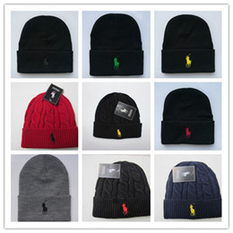 High Quality winter Fashion men beanie women knitted hat casual sports cap  keep warm ski gorro top quality classical polo skull caps 698369762980
