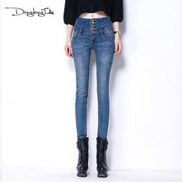 d9a0dce9df6ac Skinny High Waist Jeans Women 2017 New Buon Fly Pencil Pants Plus Size  Spring Autumn Casual Slim Vintage Denim Trousers Femme