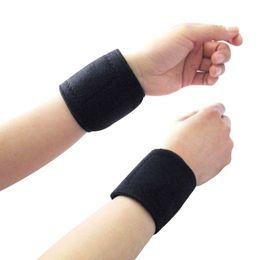pulseiras de algodão preto Desconto 1 Par de Fitness Ajustável Auto-aquecimento Ímã De Pulso Wraps Wraps Sports Wristband Faixa De Pulso Quente