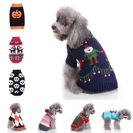 suéter de reno Rebajas Ropa para perros mascotas Ropa para renos de navidad Cachorro de punto Trajes del gato del animal doméstico Copo de nieve Ropa deportiva Suéter Suministros de mascotas