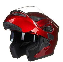 Wholesale helmet flip - Arrival JIEKAI 902 flip up double lens motorcycle helmet removable and washable liner Aerodynamic design modular helmet