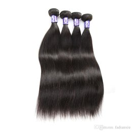 Wholesale virgin brazilian hair online - Unprocessed Brazilain Virgin Human 3 pcs Silky Straight Hair Bundles With 13x4 Lace Frontal 1B Natural Color No Shedding Online 7A Silver