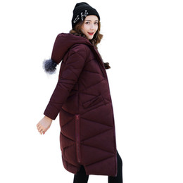Wholesale Padded Hooded Jacket - 2017 Plus Size 5XL Long Loose Parka Lady Fashion Hooded Winter Coat Women Thick Cotton Padding Warm Winter Jacket Women Outwear