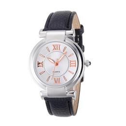 Wholesale Roman Leather Bracelet - Relojes Mujer Fashion Quartz Watch Women Girl Roman Numerals Leather Band Wrist Bracelet Watches Hot sale Women Dress Clock