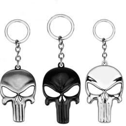 MOQ: 10pcs Fantaisie Fantaisie Le Masque Squelette Punisher Porte-clés Urrounding Porte-clés Classique Porte-clés Crâne Porte-clés Pour Hommes ? partir de fabricateur