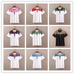 Nouveau Marque Marcelo Burlon T Shirt Hommes Femmes Comté De Milan Ailes De Plumes T-shirt Été Streetwear Hip Hop MB T-shirt T-shirts Tops M-XXL ? partir de fabricateur