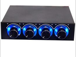 2019 ventilatore da 55 mm Manopola di raffreddamento a quattro canali Pannello frontale di raffreddamento multi-ventola -3,5 pollici Porta connettore a 4 pin CPU HDD Temp PC Computer Fan Speed Controller