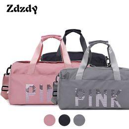 c02762cb0ba1 New Black Travel Bag Pink Color Sequins Shoulder Bags Women Handbag Women  Weekend Portable Nylon Tote Waterproof Handbags 2018