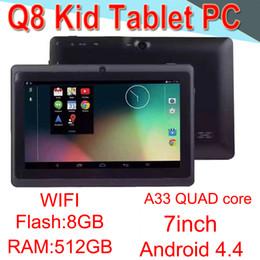 настольные лампы Скидка Q8 7-дюймовый планшетный ПК A33 Quad Core Allwinner Android 4.4 сильный емкостный 512 МБ оперативной памяти 8GBROM WIFI двойная камера фонарик Q88 CPB-6