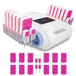 Lipo laser 16 pastiglie online-635nm ~ 650nm Lipo laser che dimagrisce macchina 5mw LLLT 16 cuscinetti di perdita di grasso cellulite corpo perdita di peso attrezzature
