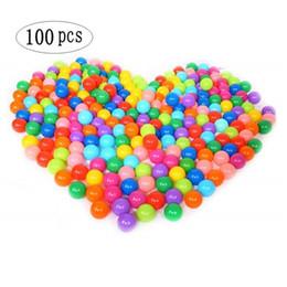 Marine pool online-Marineballspielzeug der Kinder 100pcs / lot Wasser-Pool-Ozean-Wellen-Ball-Mischungs-Farben-Plastikdruck-Luft-Ball-lustiges Baby-im Freienspielzeug