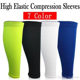 Wholesale medical sports - Free DHL 7 Color High Elastic Leg Sleeve Brace Leg Sleeve Brace Unisex Sleeves for Sport Running Varicose Calf Sleeves Medical Grade G439S