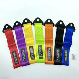 Wholesale tow bars - Free Shipping tow strap Universal High quality race car tow strap   ropes   hook   towing bars with screws and nuts