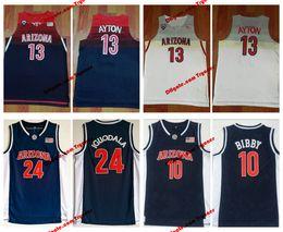 3913959ed Mens Arizona Wildcats 13 DeAndre Ayton College Basketball Jersey 10 Mike  Bibby 24 Andre Iguodala University Stitched Jerseys
