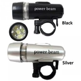 Wholesale Bike Energy - Bike Bicycle 5 LED Power Beam Front Cycling Lights Head Light Torch Lamp 5 LED Headlight Headlamp Flashlight Flash light Torch Energy Saving