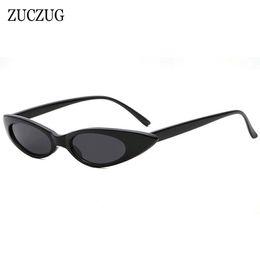 5d3c1e7f0f8 ZUCZUG Small Oval Sunglasses Women Brand Designer Sexy Cool Cat Eye Sun  Glasses Female Small Size Frame Oval Eyewear Men UV400