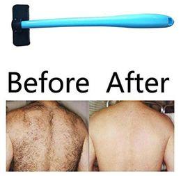 Wholesale Men Body Hair - New Shaving For Men Manual Back Hair Shaver Plastic Long Handle Razor For All Body Parts Hair Blade Remover Razors