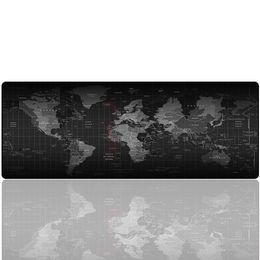 Scrivanie portatili del computer portatile online-Grande pad per mouse da gioco - Grande tappetino per tastiera portatile per computer portatile - Base in gomma antiscivolo 27,5x11,8x0,079IN Multicolor (mappa)