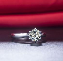 2020 tamaño de anillo de plata 4.25 Plata Esterlina 925 1.5 Quilates Excelente Diamantes Sintéticos Anillo de Solitario de Compromiso Anillo de Bodas Dientes Ajuste Anillo de Tamaño Grande Nunca Se Desvanecen