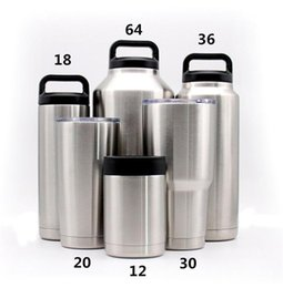 Wholesale Self Warming - travel mug YET304 30 oz 20 oz cup Double layer stainless steel tumbler in-car thermos water bottle High Quality Cup Cooler Tumbler DHL