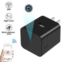 HD 1080 P WIFI Infiared Socket Camera Mini USB Adapter Cameras Wall Charger Camera Cámaras IP Inalámbricas Detección de Movimiento DVR Alarma Mini cámara desde fabricantes